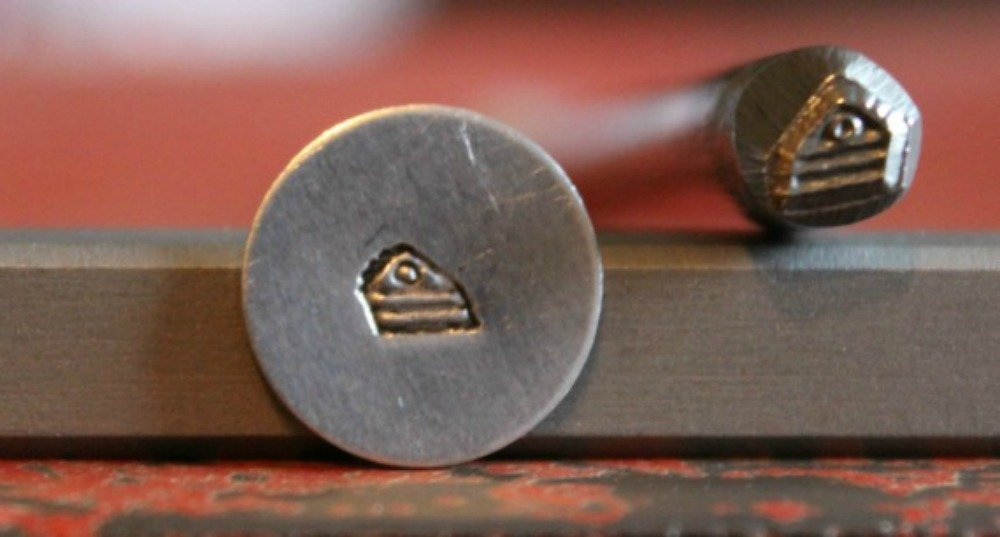 not a set Made in USA SPADE A-44 SUPPLY GUY 5mm Single Metal Punch Design Stamp: Miscellaneous