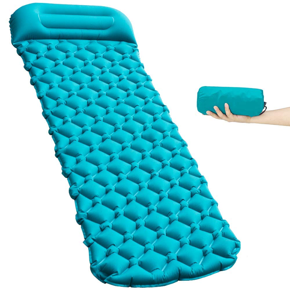 HACHEEY Camping Sleeping Pad, Ultralight & Compact Camping Pad with Pillow, Portable for Camping Backpacking and Hiking by HACHEEY