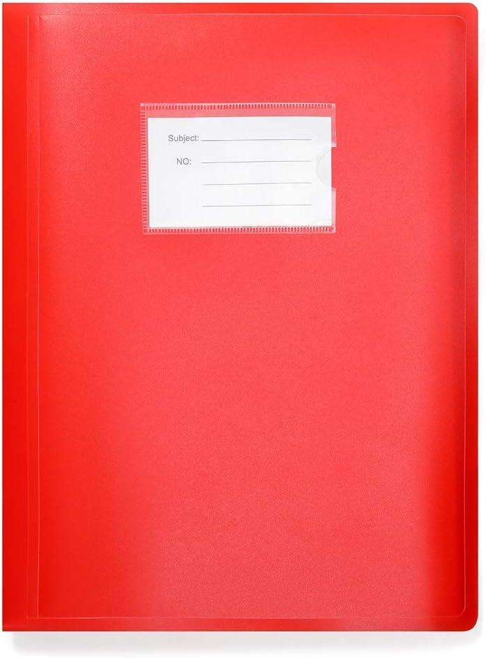 104 tasche Raccoglitore per presentazioni formato A4 colore: Rosso Arpan copertina flessibile 208//lati