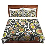 DiaNoche Designs Organic Saturation Retro Paisley Brushed Twill Home Decor Bedding Cover, 8 King Duvet Sham Set