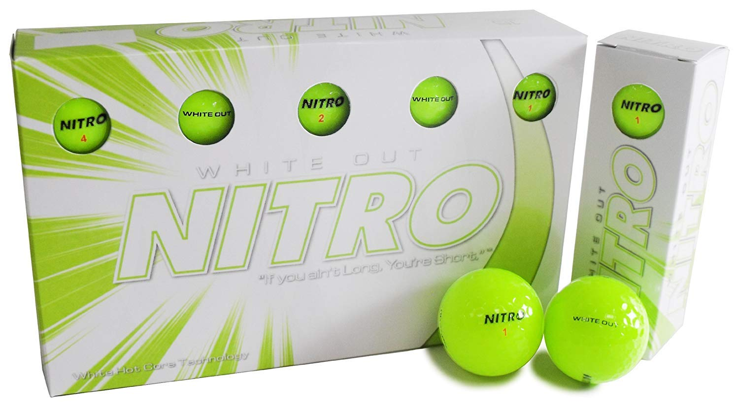 Amazon.com: Pelotas de golf Nitro White Out: Sports & Outdoors