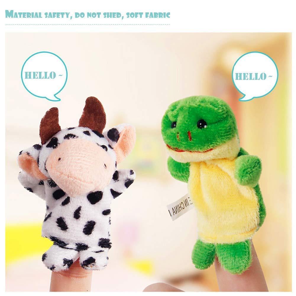 Lispeed Baby Story Time in Morbido Peluche per Bambini Set di 10 Marionette da Dita