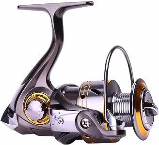 Sougayilang Fishing Reel Spinning -12+1BB Ultralight Smooth Powerful Spinning Reels for Freshwater Saltwater Bass Fishing