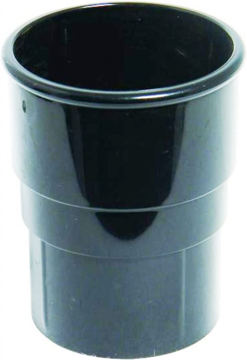 FloPlast Prise de tuyau de goutti/ère 68/mm rond noir