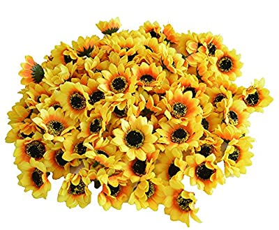 Kinwell Artificial Silk Sunflower Floral Decor
