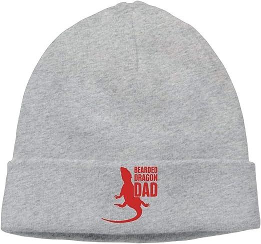 Bearded Dragon Dad Unisex Knit Beanie Cap Winter Warm Knitting Hats