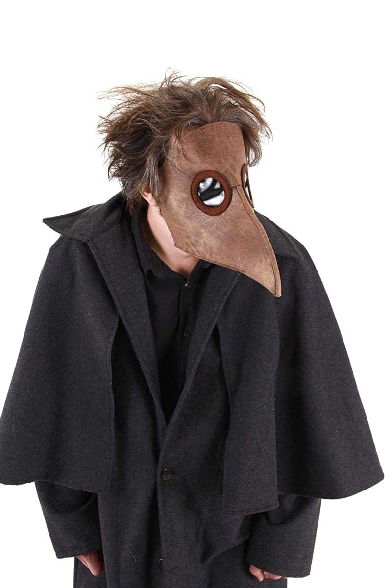 Amazoncom Elope Bubonic Plague Doctor Costume Mask Brown Clothing