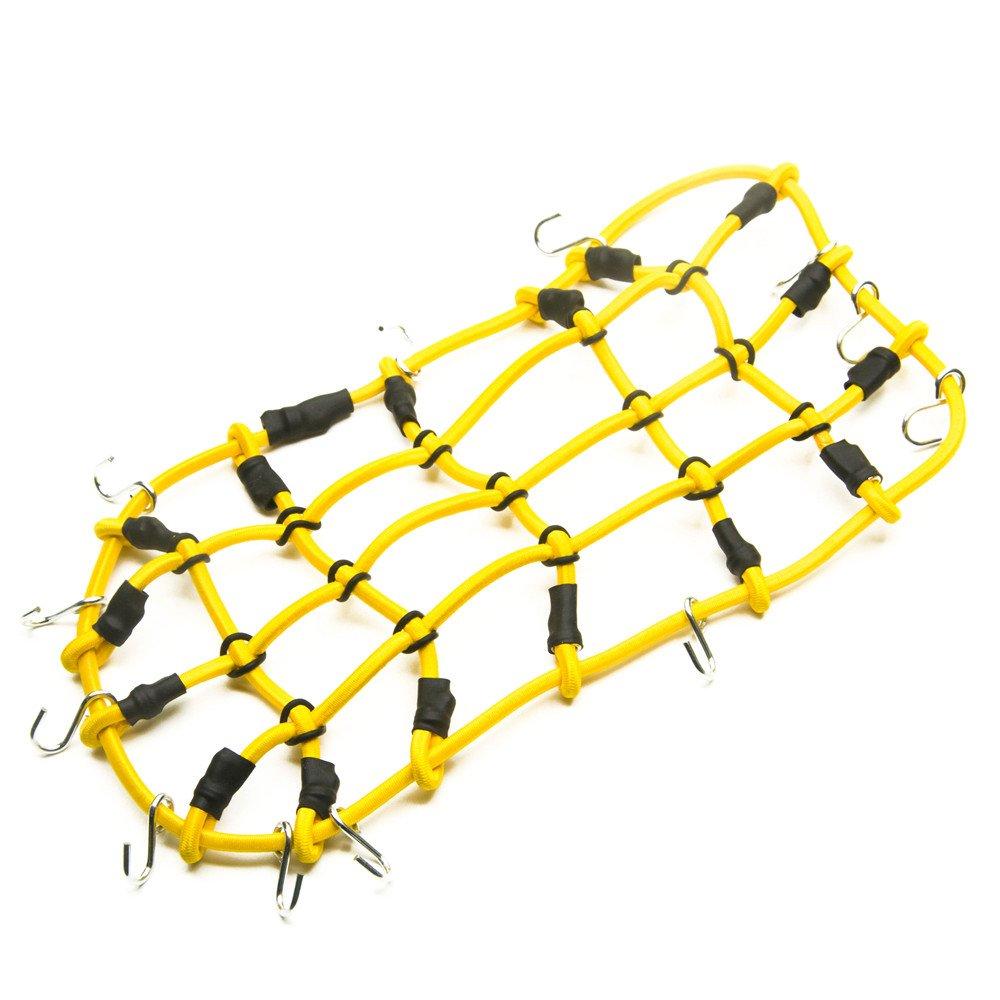 1 Stück 1:10 RC Elastisch Gepäcknetz mit Haken für 1/10 Crawler Auto Axial RC4WD SCX10 Dachträger (Rot) XUNJIAJIE A123