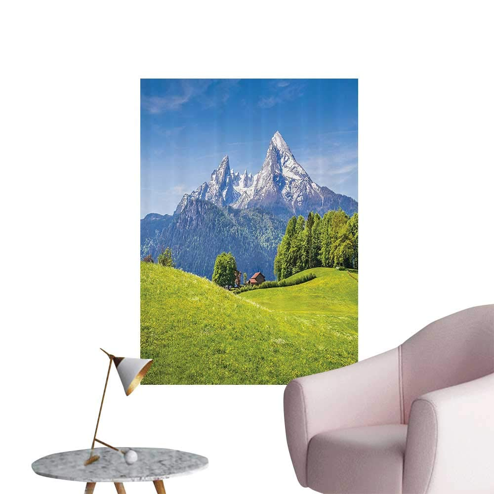 Amazon com wall art prints pastoral landscape in alps with