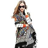 DANA XU 100% Pure Wool Large Size Women Large Scarf Mask Pashmina