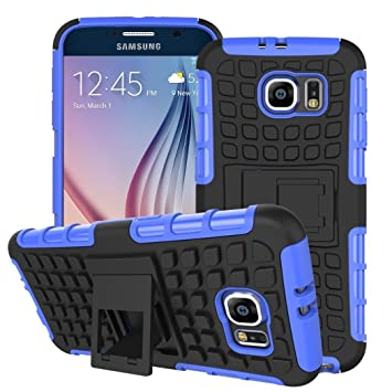 release date 3500d 8a4cd Case Collection Heavy Duty Cover for Samsung Galaxy S6 Case Dual Layer  [Drop Protection] Shockproof Armor with Kickstand Feature for Samsung  Galaxy S6 ...