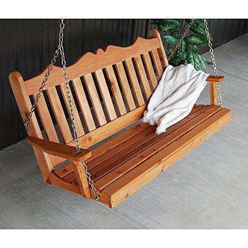 A & L Furniture 5-Feet Royal English Red Cedar Stain Porch Swing