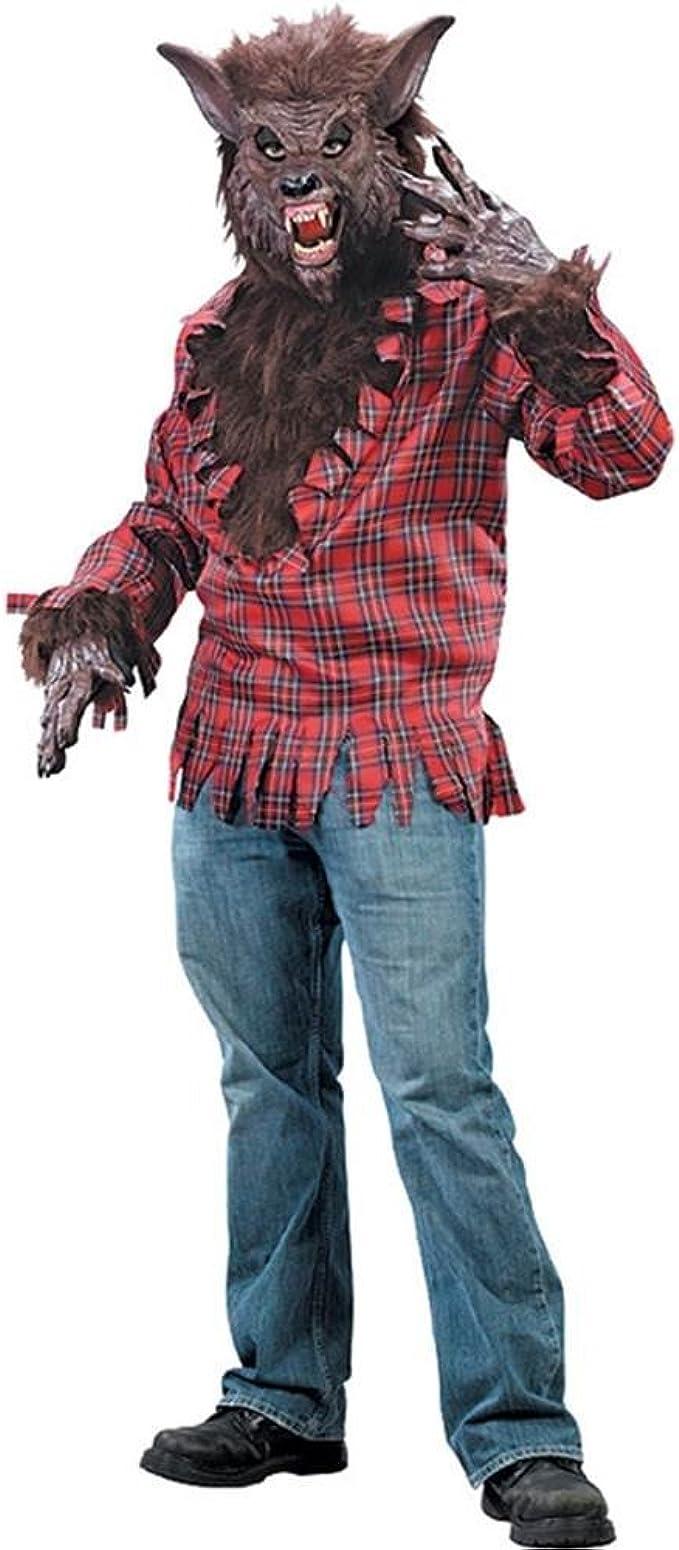 Amazon.com: FunWorld, disfraz hombre lobo, M/ L, Marrón ...