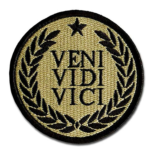Bastion Tactical Combat Badge Military Hook and Loop Badge Embroidered Morale Patch - Veni Vidi Vici ACU - Military Acu Patches