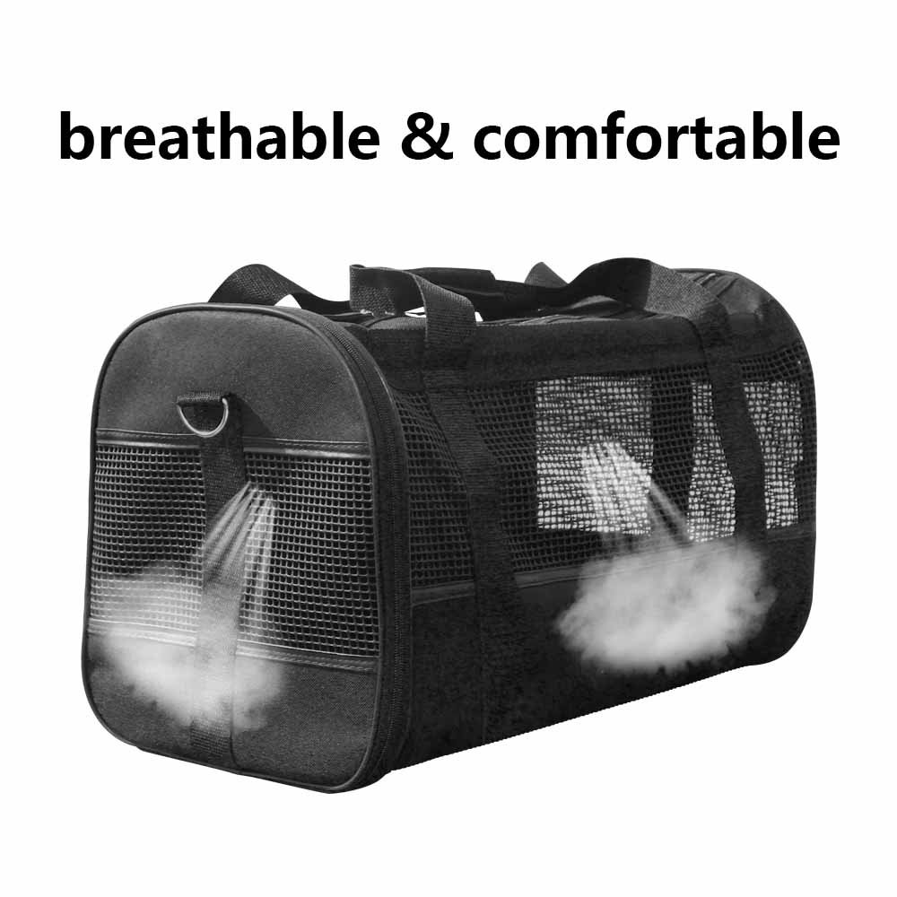 AGOOL Pet Carrier Luxury Large Soft Sided Foldable Pet Travel Tote with Removable Airline Approved Fleece Bedding for for Puppies, Cats and Pets - 19x11x12 inch by AGOOL (Image #5)