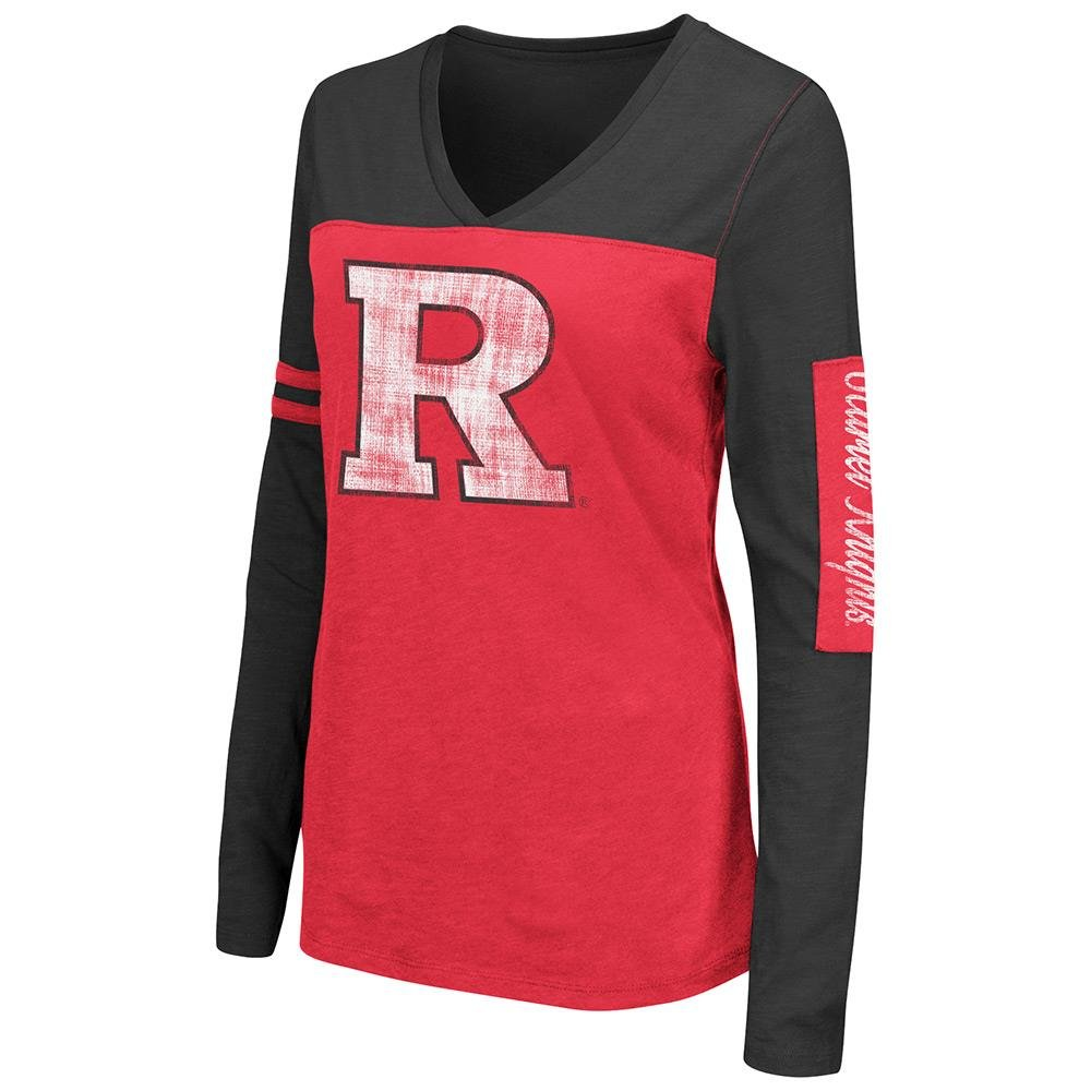 Womens NCAA Rutgers Scarlet Knights長袖Tシャツチームカラー Small  B0736CPX84