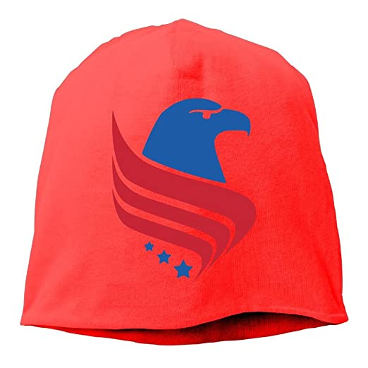 4a9808db95489 Image Unavailable. Image not available for. Color  Eagles Fan Beanie Hats  American Eagle USA Flag Logo Cable Knit Skull Caps Thick Soft