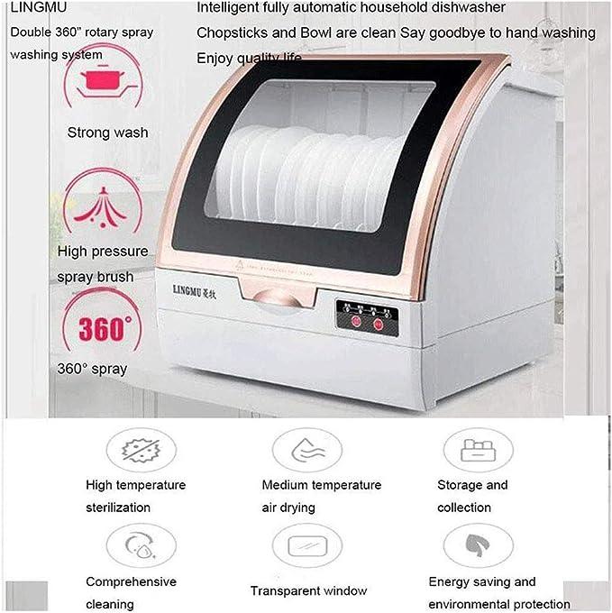 ZWHDS Lavavajillas - Mini lavavajillas, 800 W, 44 cm de Ancho ...