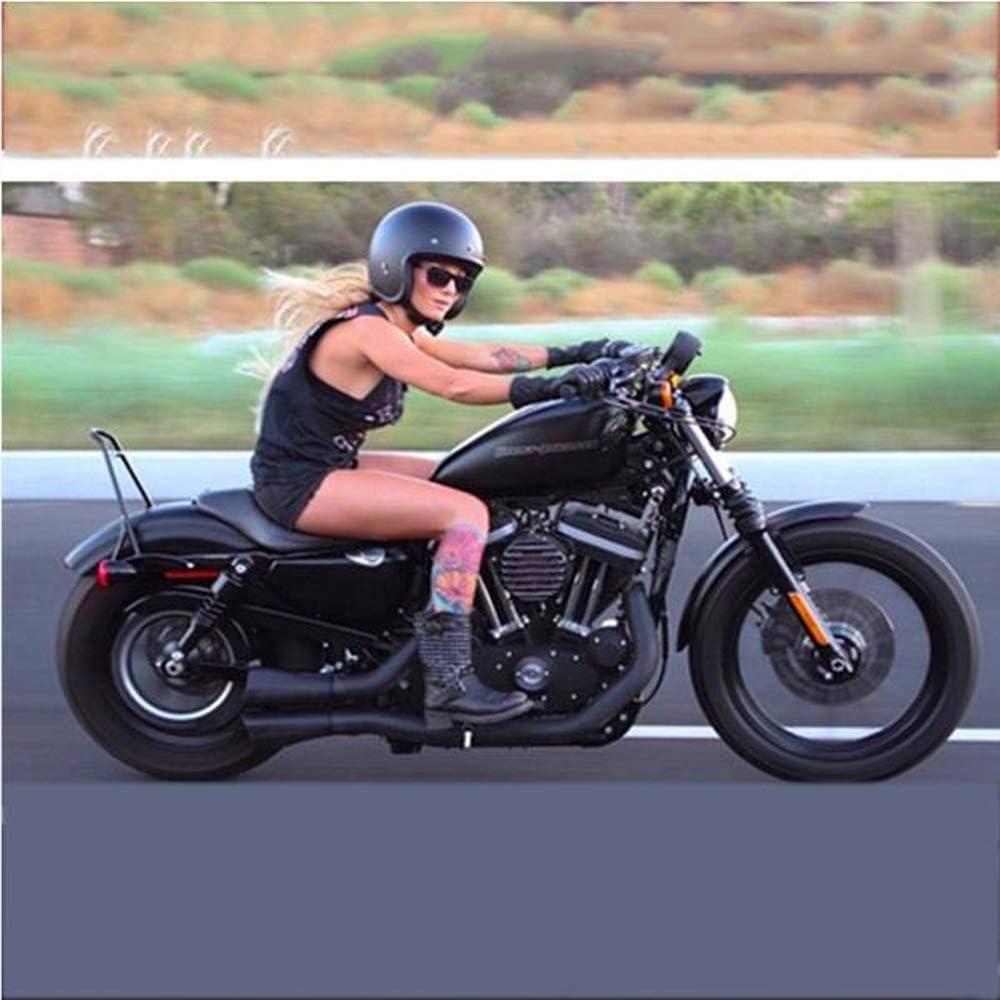 MMRLY Casque de Moto Semi-Ouvert ,S Casque Harley//Locomotive Casque de Demi-Scooter personnalit/é r/étro Rue Demi-Casque//Noir Brillant // S, M, L, XL 55~56CM