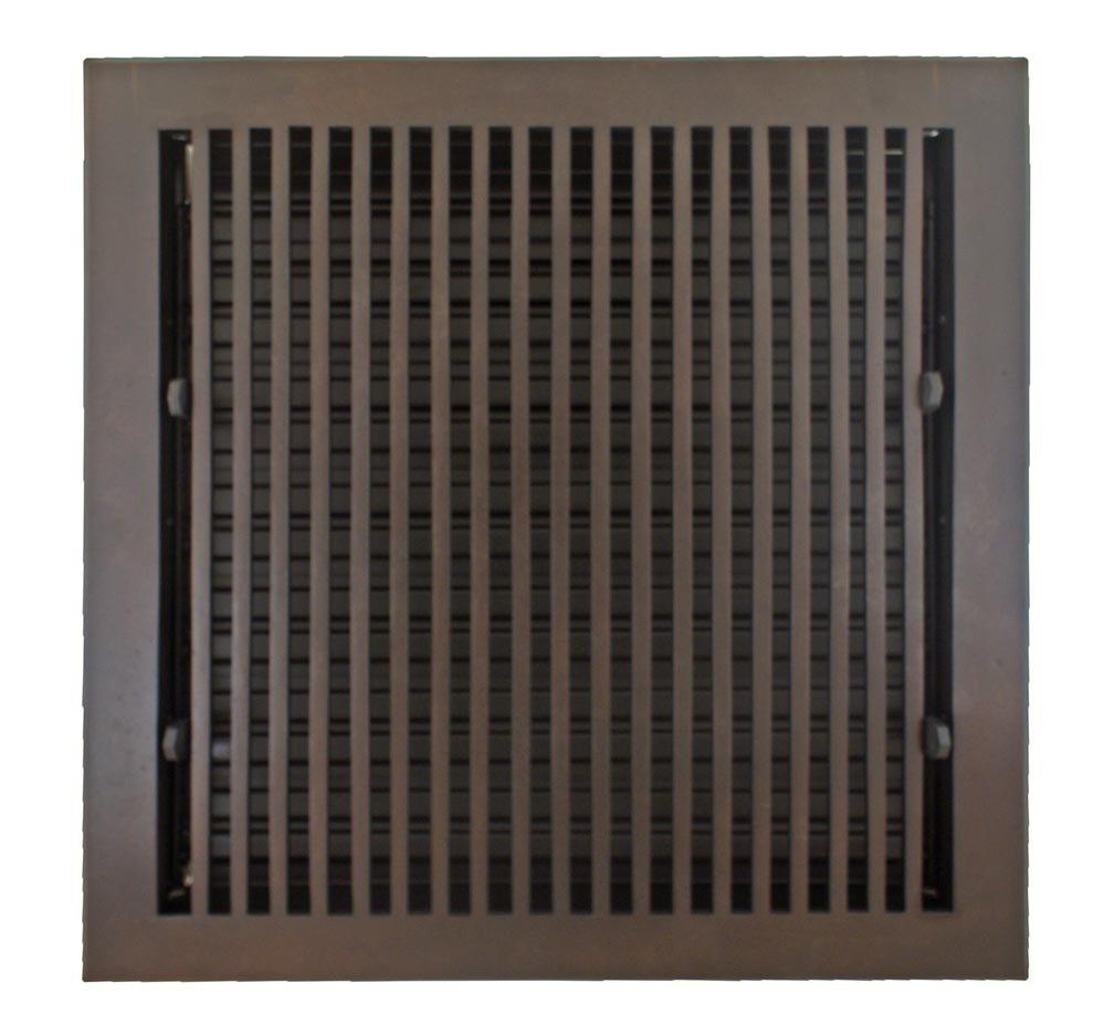 Hamilton Sinkler HVF-1212-BP Hamilton Sinkler Flat Floor Vent with Damper, 12 by 12-Inch, Bronze Patina