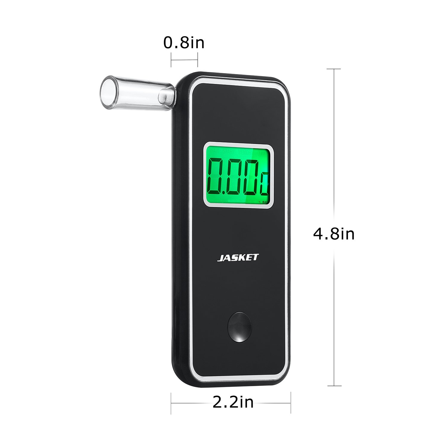 JASTEK Breathalyzer Professional Portable Digital Breath Alcohol Tester with 5 Mouthpieces -Black by JASTEK (Image #5)
