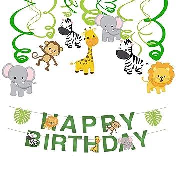 Haocoo Selva Fiesta Remolino Espiral y Happy Birthday ...