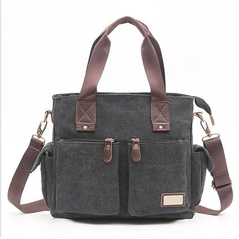 fe662cbbfbf7 MCNFJD Canvas Shoulder Bag Large Capacity Casual Travel Bag For Men Laptop  Crossbody Handbag Messenger Bags