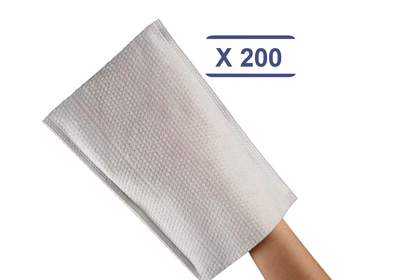 200 Gants de Toilette gaufr/és jetables Qualit/é Luxe Tr/ès doux MFB Provence/®