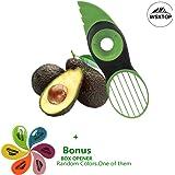 Rebanadora de Aguacate, 3 en 1 Green Splits Pits Rebanadas Sharp Blade Fruta Aguacate Mango Papaya Pitter Peeler