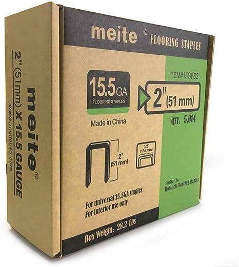 meite 15-1//2 Gauge 1//2-Inch Crown by 2-Inch Leg Length Hardwood Flooring Staples 1012 PCS//Box Pack