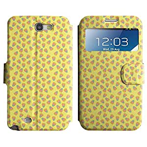 Be-Star Diseño Impreso Colorido Slim Casa Carcasa Funda Case PU Cuero - Stand Function para Samsung Galaxy Note 2 II / N7100 ( Simple Pattern )