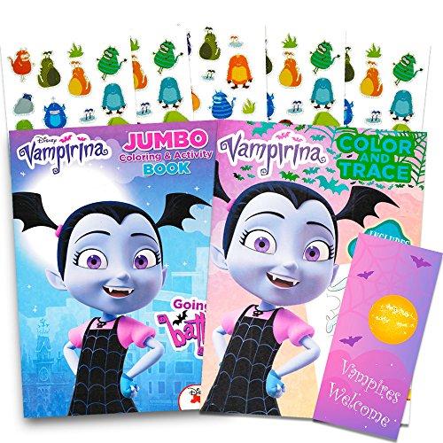 Disney Vampirina Coloring Book Super Set 2 Jumbo Books Stickers And