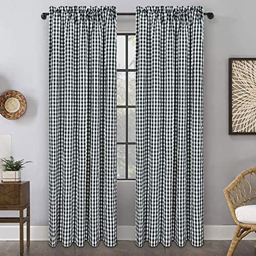 Buffalo Plaid Cotton Curtain