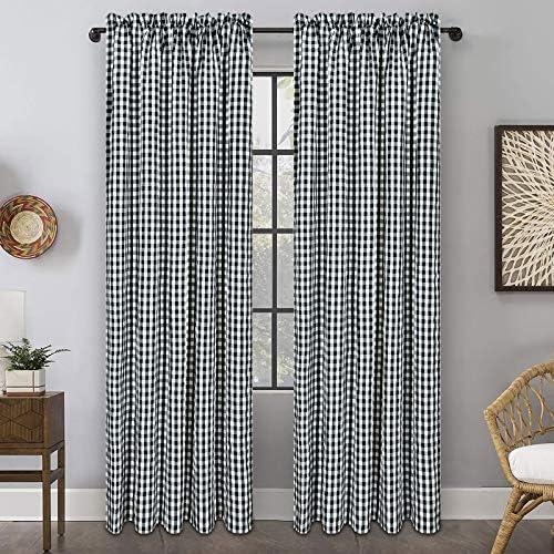 Buffalo Plaid Cotton Curtain