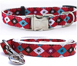 """product image for Diva-Dog 'A Very Jetsons Christmas' Custom Small Dog 5/8"""" Wide Dog Collar with Plain or Engraved Buckle, Matching Leash Available - Teacup, XS/S"""