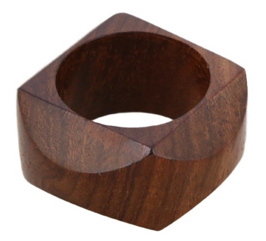 Shalinindia Handmade Artisan Crafted in India Wood Napkin Ring Set of 12 by ShalinIndia (Image #2)