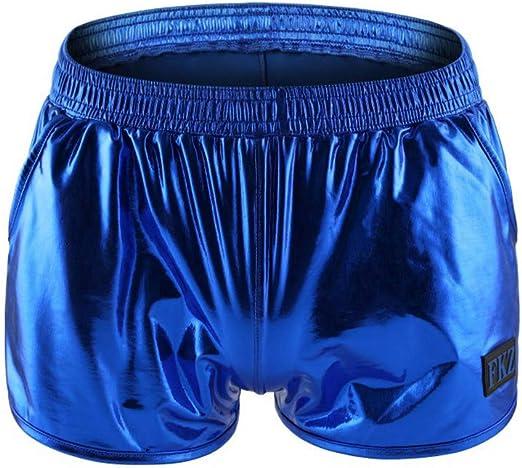 Men Stripe Swim Trunks Summer Quick Dry Drawstring Patchwork Swim Boxer Short JD