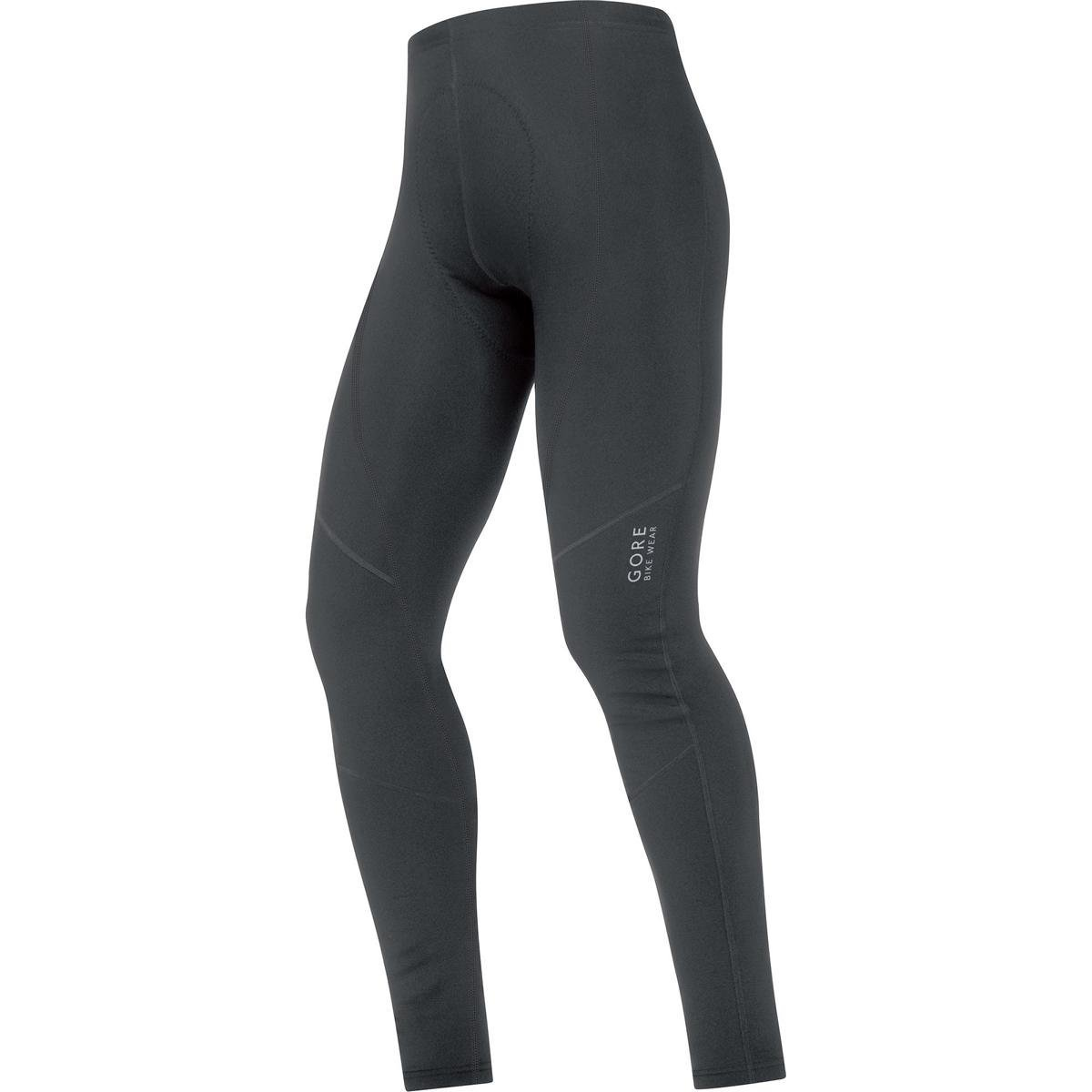 GORE BIKE WEAR Men's Long Thermal Cycling Tights with Seat Padding, GORE Selected Fabrics, ELEMENT 2.0 Thermo Tights+, Size S, Black, TELTMT