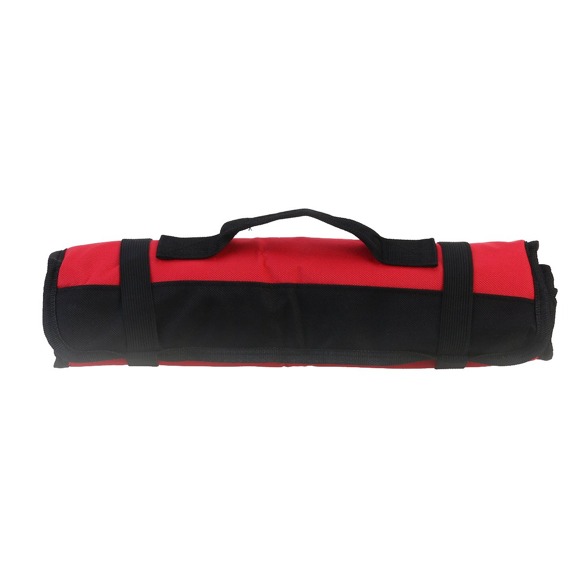 ROSENICE Wrench Roll Multi Purpose 22 Pocket Reel Rolling Tool Bag Red