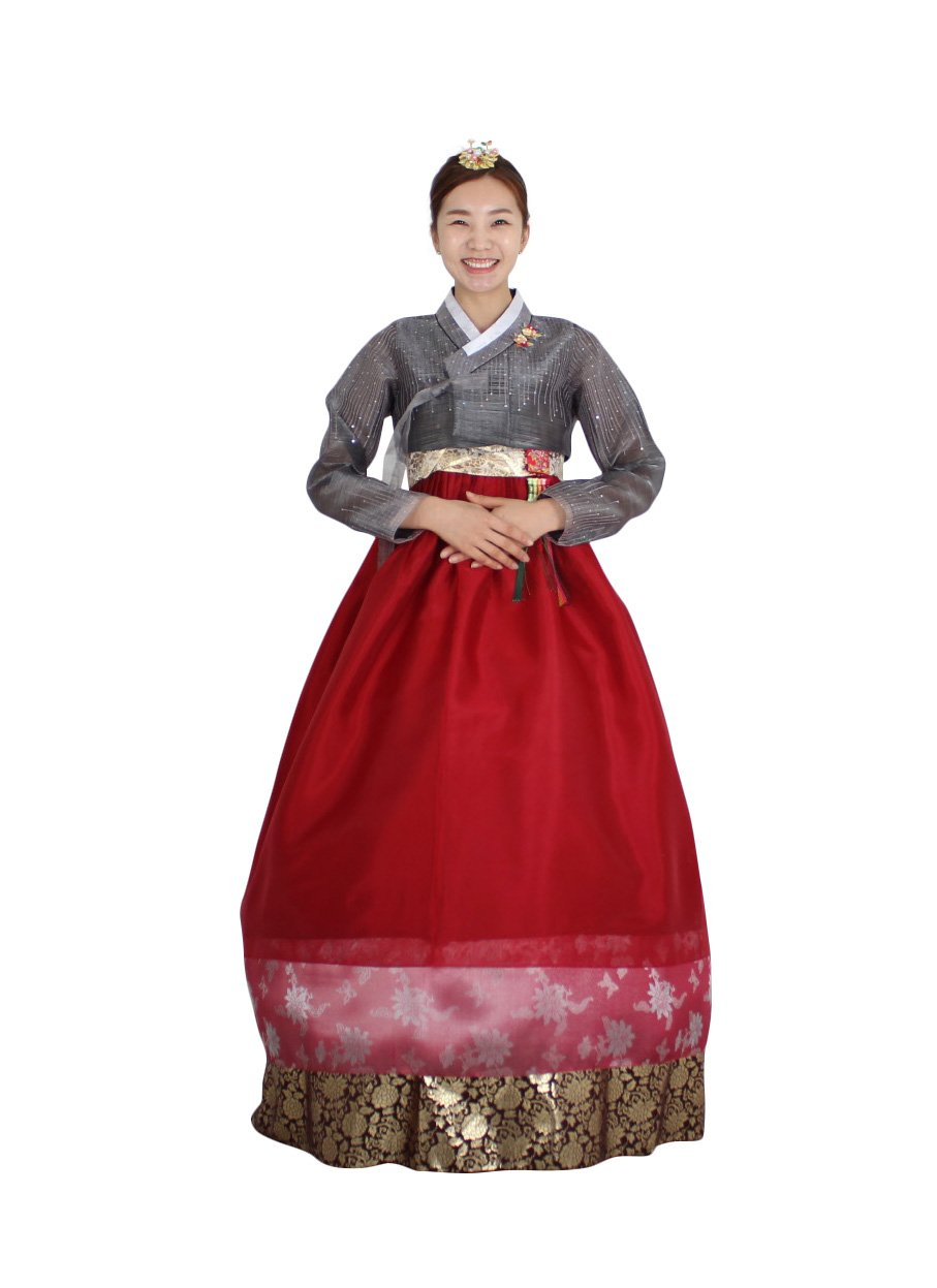 Hanbok Korea Traditional Costumes Women Junior Weddings Birthday Speical Ceremony co106 (77 (L) womens top)