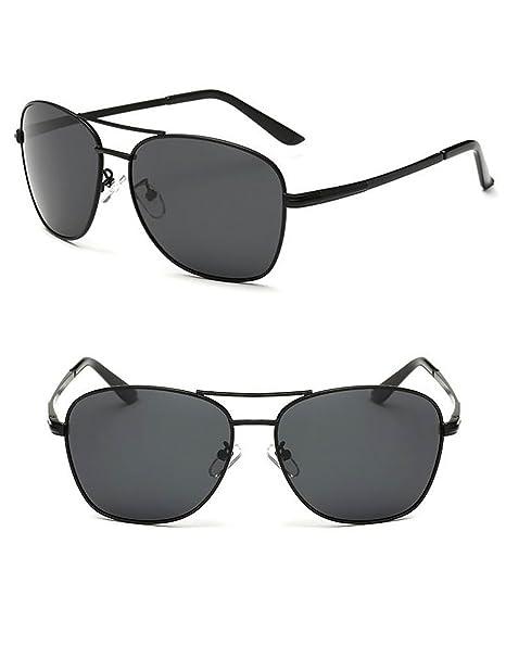 945d608d438a36 Polarized UV400 Protection Metal Frame TAC Lenses Sunglasses (black