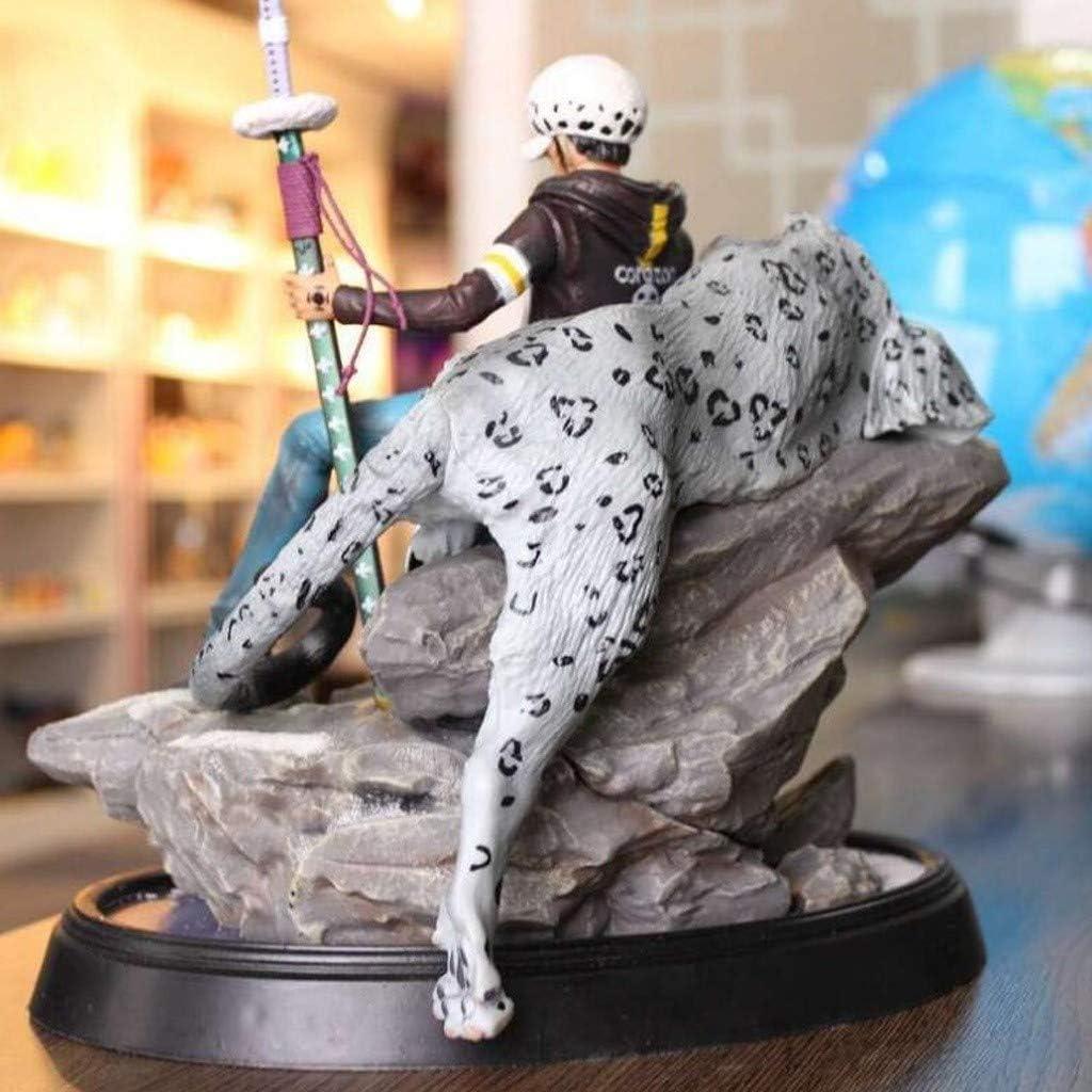hoch 30CM Trafalgar Law Snow Leopard Sitzen Statue PVC Modell One Piece Portr/ät von Piraten