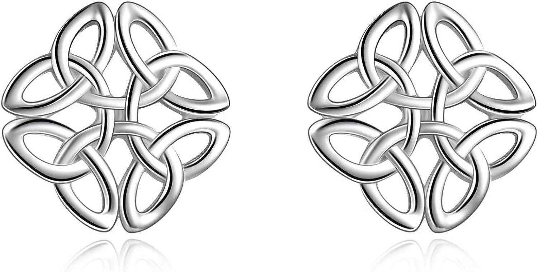 WINNIICACA Pendientes celtas de plata de ley irlandesa con nudo celta regalo para mujeres y ni/ñas