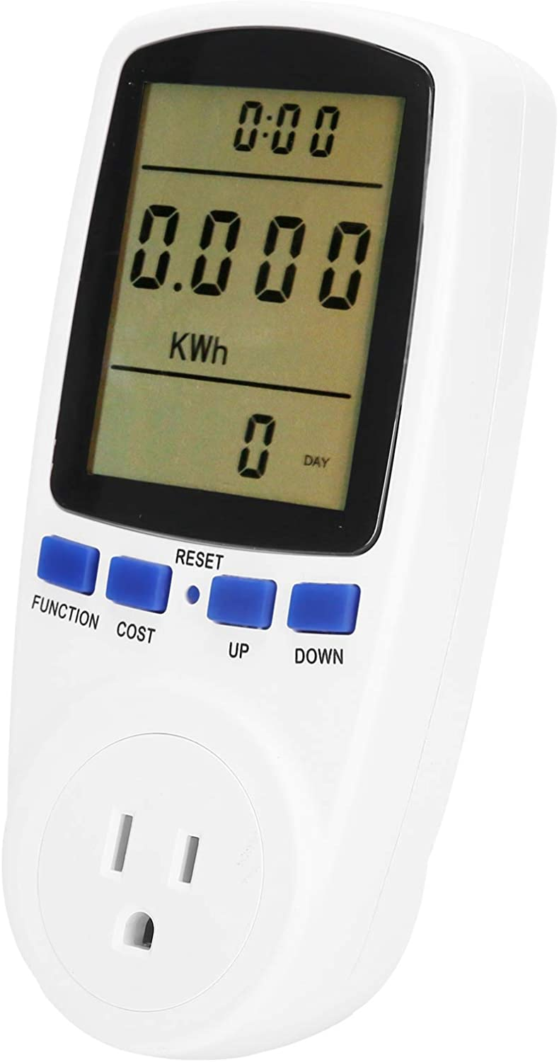 Electricity Usage Monitor, 0.5W Portable Electrical Meter Sockets with Lcd Display for Electricity Monitor for Home(110)