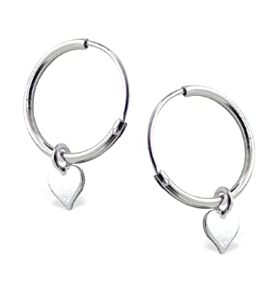 DTPSilver - 925 Sterling Silver Hoops Earrings - Set of 3 Pairs -Thickness 1.2 mm - Diameter 12 , 14 , 16 mm