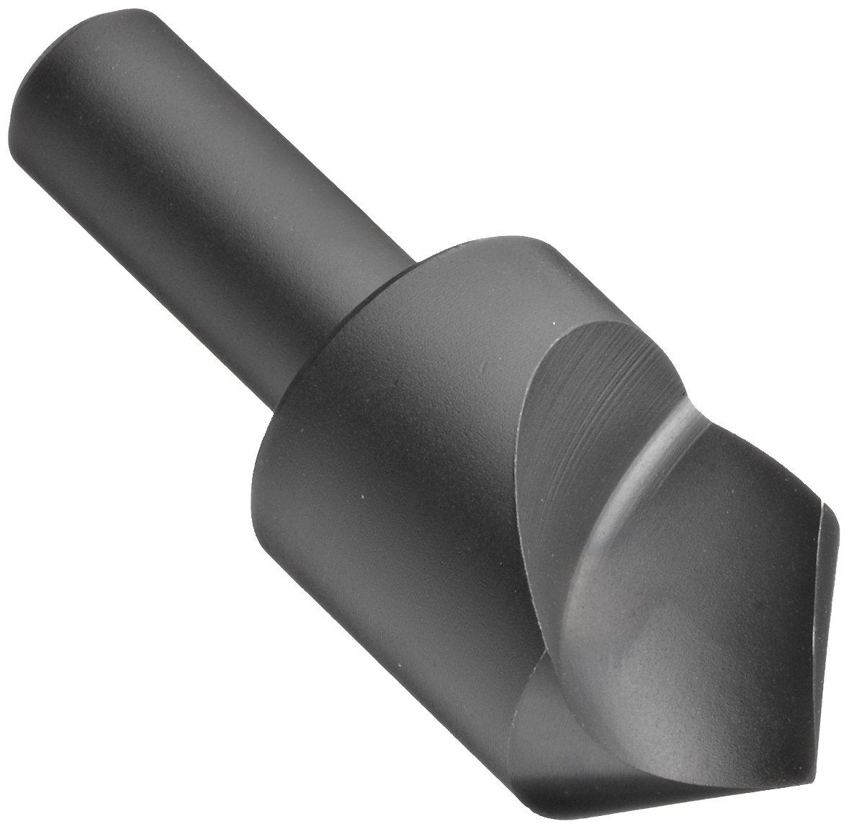 Chicago Latrobe 209SF High-Speed Steel Countersink, Black Oxide Finish, Single Flute, 82 Degrees, Round Shank, 3/8'' Shank Dia., 3/4'' Body Dia.