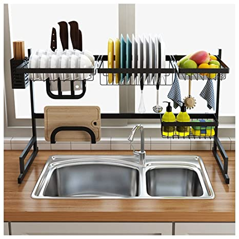 Amazon Com Stainless Steel Dish Drying Rack Over Sink Sink