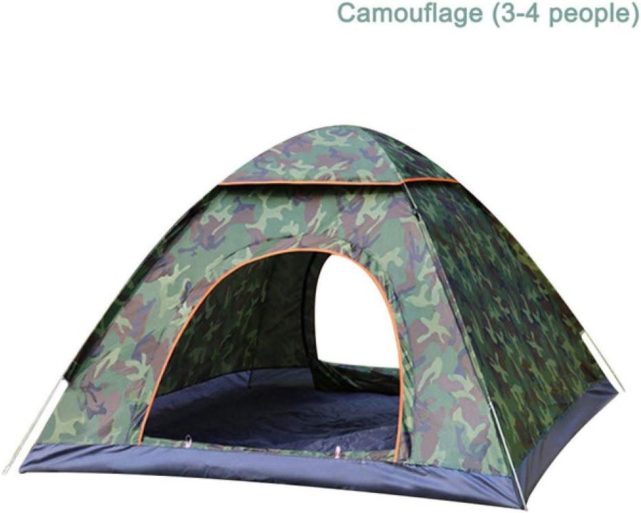 WEDZB Reistent,Familie Wandelen Kamperen Automatische tent Meerdere modellen Eenvoudig te openen toeristische tenten Ultralight Instant voor 1-2 personen Camoufleer 3-4mensen
