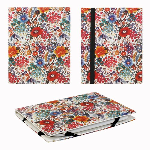 """JAVOedge Summer Floral 6"""" Universal eReader Book Case for the Nook Touch, Glowlight, Kobo Glo, Touch, Kindle (White)"""
