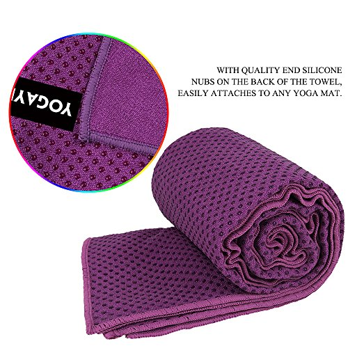 YOGAYET Skidless Hot Yoga Towel Ultra Absorbent Microfiber Non Slip Mat Towels Premium Mat-Size 72